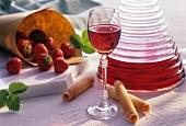 Home-made strawberry liqueur
