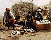 Fischhändler in Mocca (Nordjemen)