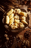 Puff pastries with various fillings