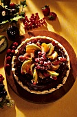 Norwegian almond ring with fruit