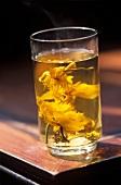 A glass of lotus tea