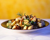 Pan-cooked potato and courgette dish