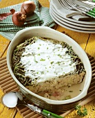Mince casserole with savoy