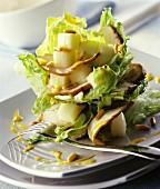 Iceberg lettuce with chicken breast fillet & honeydew melon