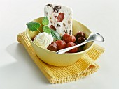 Parfait with rumtopf fruits