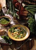 Pesto minestrone