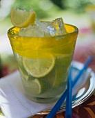 A glass of Caipirinha