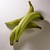 Three plantains (cooking bananas)