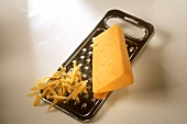 Cheddar in the piece and grated on grater