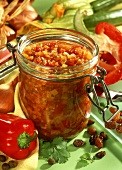 Courgette and pepper relish