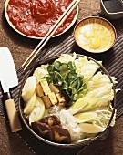 Sukiyaki (Japanese fondue)