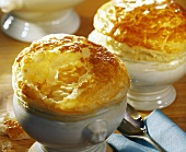 Onion soup with puff pastry topping
