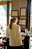 Back view of a waitress in Café Tambosi, Munich