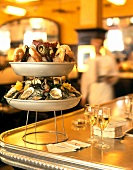 Seafood on tiered stand (Restaurant Baltaszar, New York)