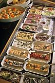 Scandinavian buffet (smorgasbord)