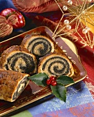 Christmas poppy seed roll