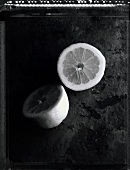 Half a lemon (b/w photo)