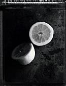 Half a lemon (b/w photo)