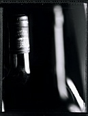 A bottle of Chateau Margeaux (b/w photo)
