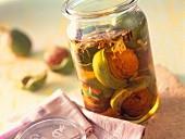 Pickled green walnuts (a tasty side dish)