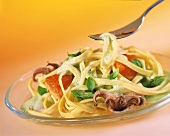 Ribbon noodles with seafood and white wine sauce
