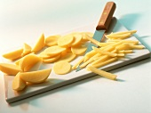 Cutting potatoes into sticks
