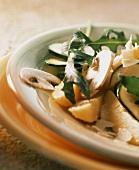 Insalata di patate (potato salad with mushrooms & rocket)