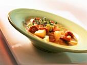 Spanish potato stew with chorizo