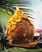 Creole style York ham with pineapples