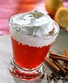 Cream punch with rum