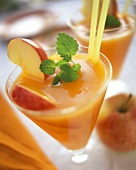 Apple and carrot juice with sea buckthorn pulp