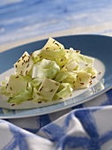 Krautfleckerl (pasta with cabbage) with caraway