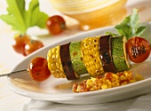 Vegetable kebabs with pepper chutney