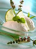 Lime buttermilk ice cream
