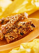 Muesli bar with nuts