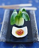 Steamed Bok Choy with Chinese Sweet & Sour Sauce