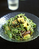 Rocket Salad with Kumara (Sweet Potato), Avocado & Pistachios