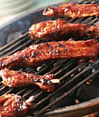 Spare-ribs on the barbecue