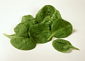 Spinach with drops of water