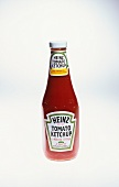 A bottle of Heinz ketchup