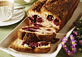 Tea loaf with blackberries and banana