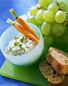 Herb cheese with carrots