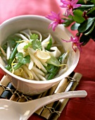 Thai vegetable and noodle soup
