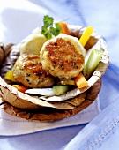 Turkey patties with vegetables