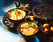 Cold soup made from citrus fruits and tea