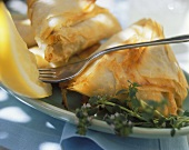 Pastry parcels with lamb and vegetable filling