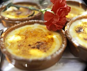 Crema catalana in mould