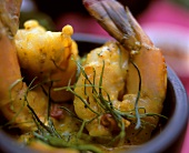 Shrimps in curried pumpkin sauce (India)