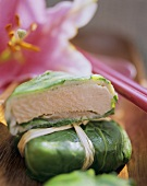 Pork loin with salmon wrapped in spinach (S. Pacific)