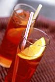 Two glasses of Cinzano Bitter Orange